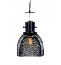 Lampada a sospensione in stile industriale vintage gabbia di metallo colore nero FRATTON