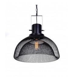 Lampada a sospensione in stile industriale vintage gabbia GLENCOR Nero