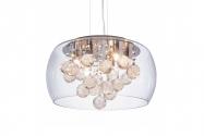 Lampadario a sospensione moderno di design in vetro e cristalli FABINA D40