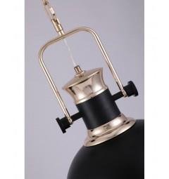 Lampada a sospensione in stile industriale vintage loft di metallo colore nero e ottone lucido BATORE W1