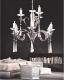 Lampadario a sospensione moderno in metallo cromato e cristalli 9 punti luce Arterro W9