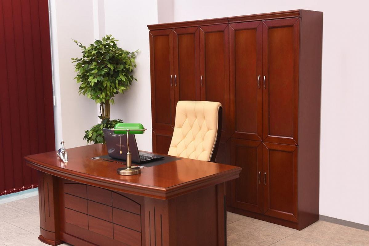 Armadio per ufficio o studio in stile classico a 2 ante ...