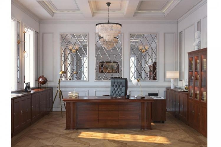 Arredamento set ufficio completo in stile classico for Arredamento in saldo
