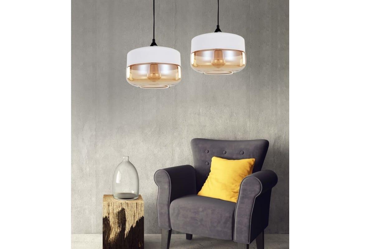 Lampada Vintage Industriale : Lampadario a sospensione stile industriale vintage loft barlet bianco