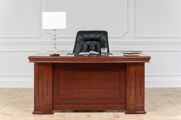 Scrivania-presidenziale in stile classico per ufficio o studio PRESTIGE B610 da 1,6 Metri