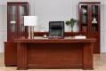 Scrivania presidenziale in stile classico per ufficio o studio PRESTIGE B610 da 2,2 Metri