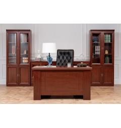 scrivania classica studio casa o soggiorno in legno noce