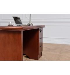 scrivania porta pc classica in legno massello