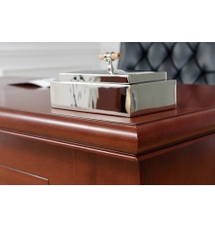 scrivanie classiche ufficio in legno noce arrediorg modello Prestige B420