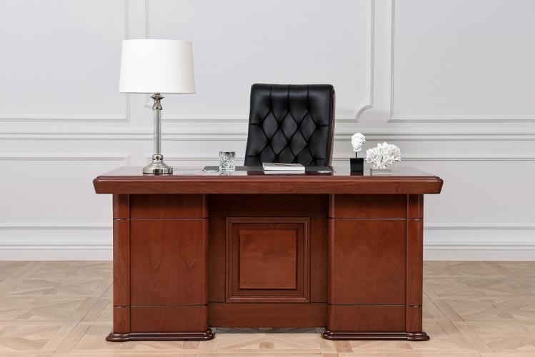 Scrivania presidenziale in stile classico per ufficio PRESTIGE B630 1,6 Metri