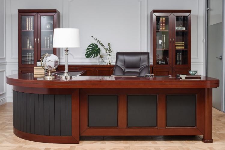 Completo ufficio PRESTIGE B810 in stile classico con scrivania 2,8 Metri