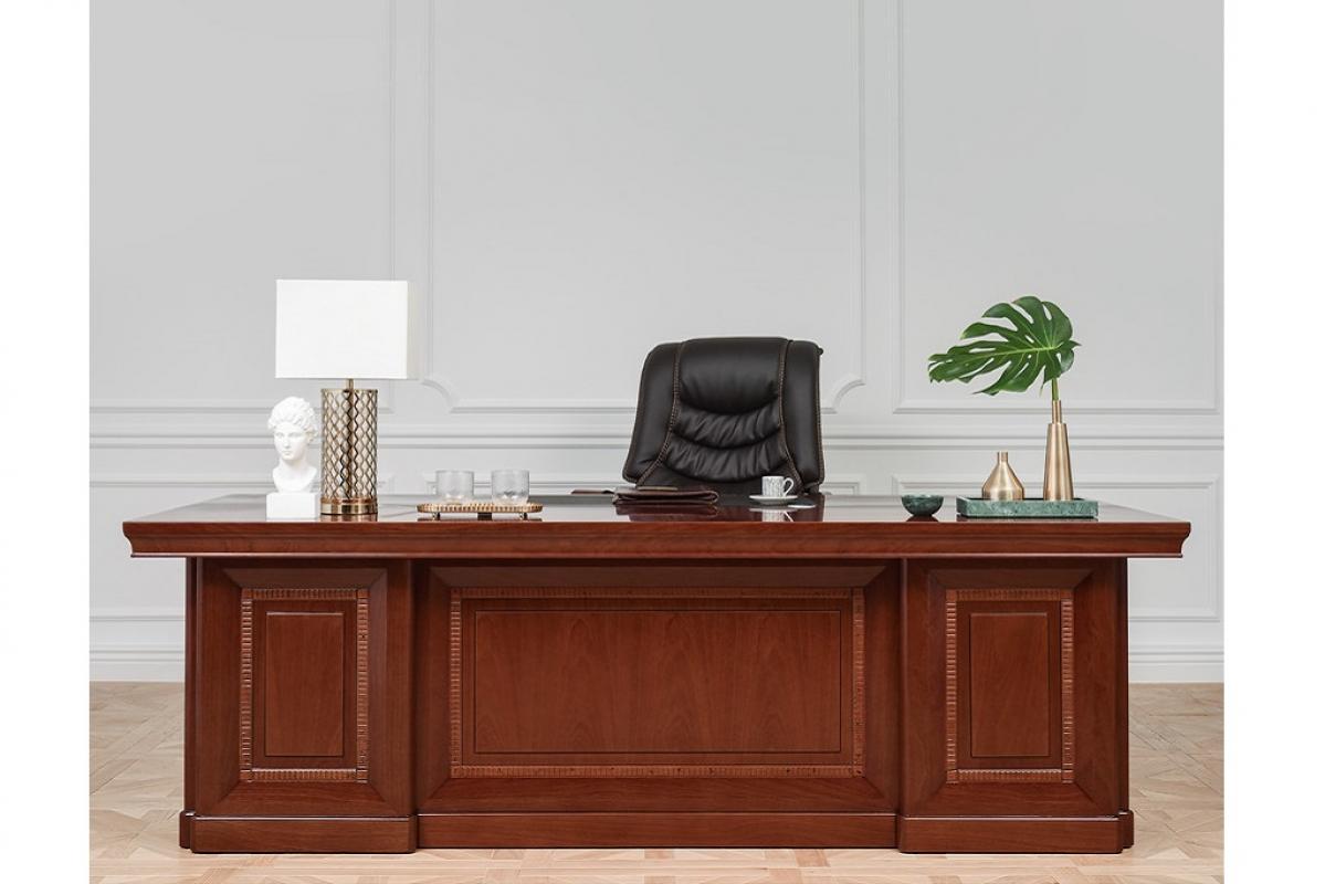 Set ufficio dirigenziale con scrivania poltrona armadi e for Mobili ufficio scrivania