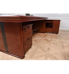 scrivania presidenziale con cassettiera e mobiletto porta documenti da ufficio