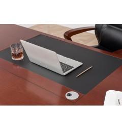 scrivania con piano in pelle per ufficio