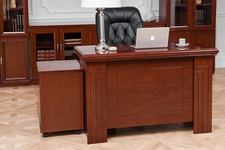 Scrivania in stile classico per ufficio PRESTIGE B410 da 1,2 Metri