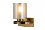 Applique lampada da parete in stile industriale vintage di metallo colore ottone SANTINI W1