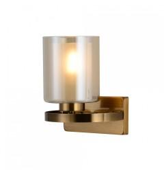Applique lampada da parete in stile industriale vintage di metallo colore ottone con paralume in vetro SANTINI W1