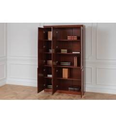libreria da ufficio con gli sportelli aperti