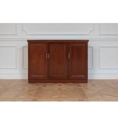 mobiletto basso da ufficio con ante di legno