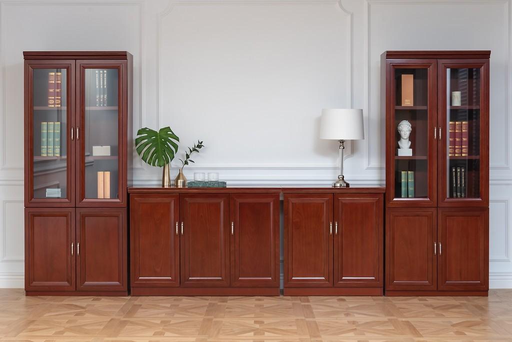 Armadi componibili per una parete a 4 metri per ufficio stile classico