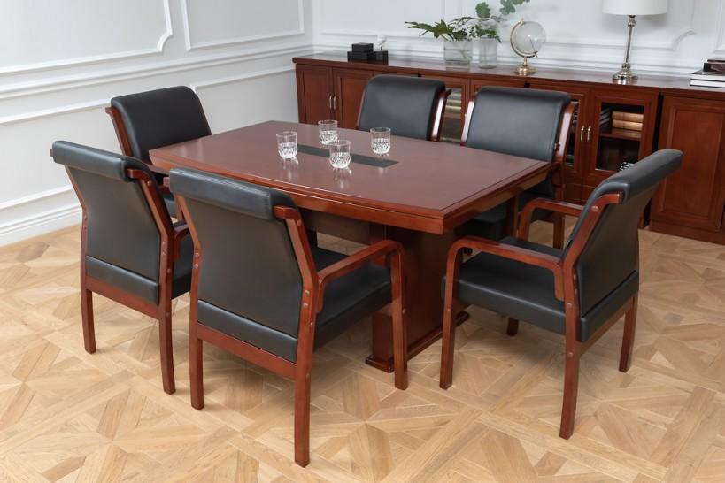 Tavolo-da-conferenza-e-riunione-in-stile-classico-per-ufficio-o-studio-professionale-PRESTIGE-S610-1,6-Metri-1
