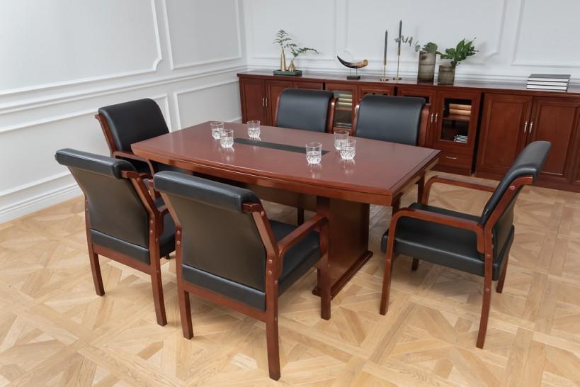 Tavolo da conferenza e riunione in stile classico per ufficio o studio professionale PRESTIGE S610 da 1,8 Metri-1