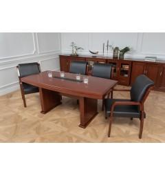 Tavolo da conferenza e riunione in stile classico per ufficio o studio professionale PRESTIGE S610 da 1,8 Metri-2