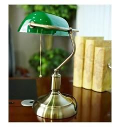 lampada verde da scrivania