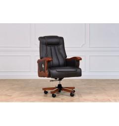 sedia con rotelle per ufficio realizzata in pelle