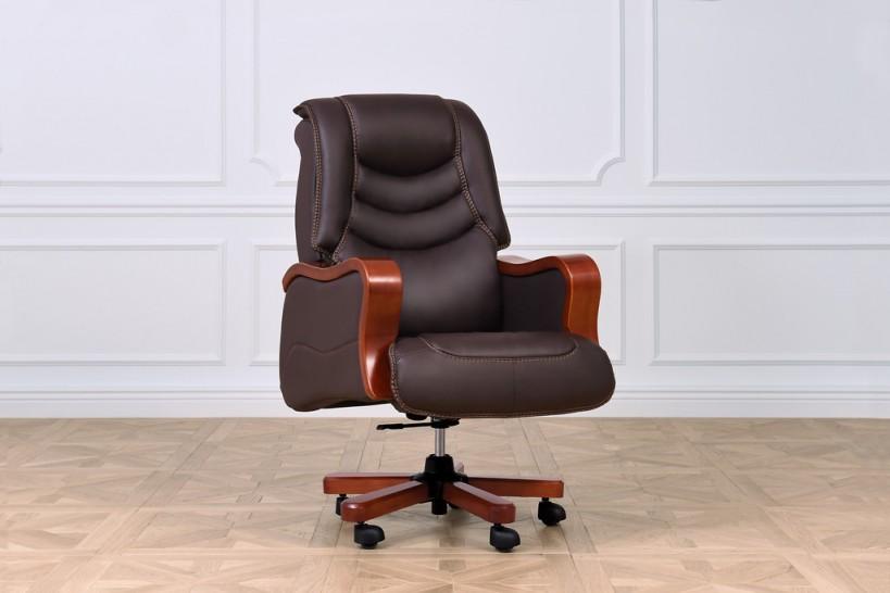 Poltrone ufficio in pelle marrone