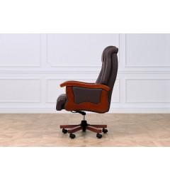 Poltrona da ufficio direzionale Prestige in pelle colore Marrone