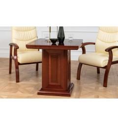 Tavolo quadrato da conferenza, riunione o coworking in stile classico per ufficio o studio professionale PRESTIGE G610 da 80 cm