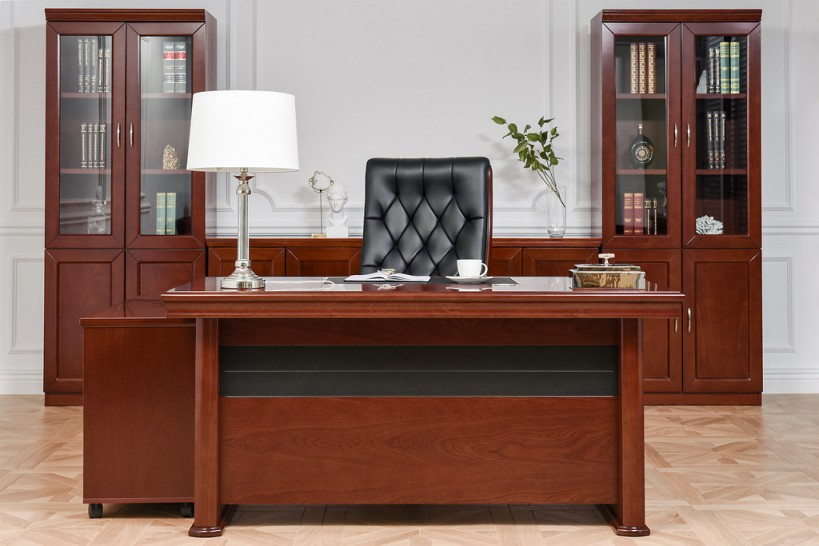 Elegante arredamento set ufficio completo stile classico for Arredamento in saldo