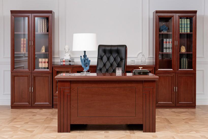 Arredamento set ufficio completo PRESTIGE B420 in stile classico con scrivania 1,4 Metri