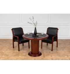 Tavolo rotondo da conferenza, riunione o coworking in stile classico per ufficio o studio professionale PRESTIGE G620 da 100 cm