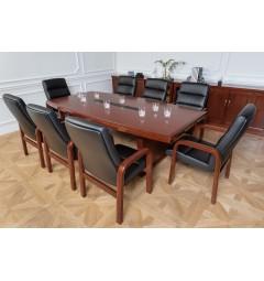 Arredo completo per sala riunione con tavolo riunione 8 posti 2,4 metri e sedie