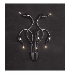 Applique lampada da parete da muro stile moderno di design in metallo colore nero Magica W5