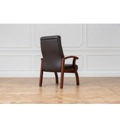Sedia da sala riunione Comforte in pelle Marrone