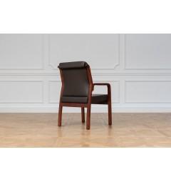 Sedia da sala riunione Meeting in legno e eco pelle Marrone