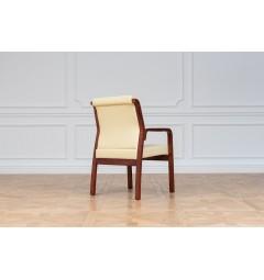 Sedia da sala riunione Meeting in  legno e eco pelle Beige
