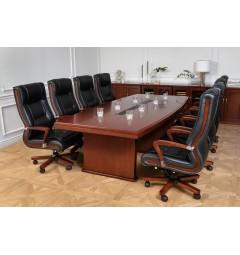 Tavolo per riunione in stile classico per ufficio o studio professionale PRESTIGE S610 da 2,8 Metri