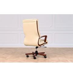 Sedia ufficio direzionale in pelle con rotelle Ambassador