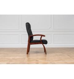Sedia per sala riunioni Comforte in pelle Nero