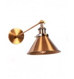Applique lampada da parete da muro Stile Industriale vintage in metallo colore ottone GUBI WT
