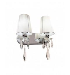 Applique lampada da parete Alessia W2 Bianco