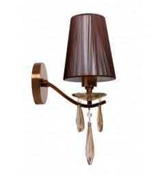 Applique lampada da parete Alessia W1 Ottone