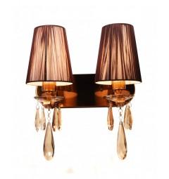 Applique lampada da parete Alessia W2 Ottone