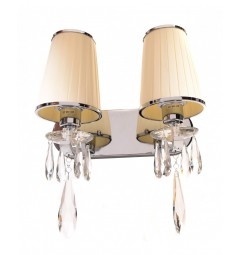 Applique lampada da parete Alessia W2 Beige