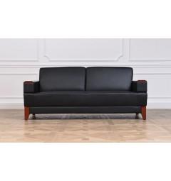 divanetto sala attesa di colore nero