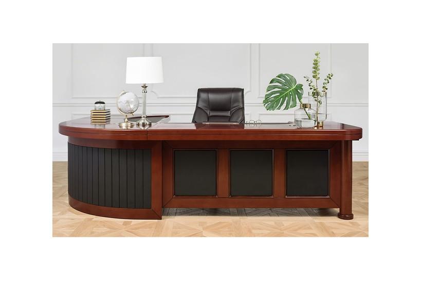 Scrivania direzionale in stile classico per ufficio o studio professionale PRESTIGE B810 da 2,8 Metri per manager e avvocat